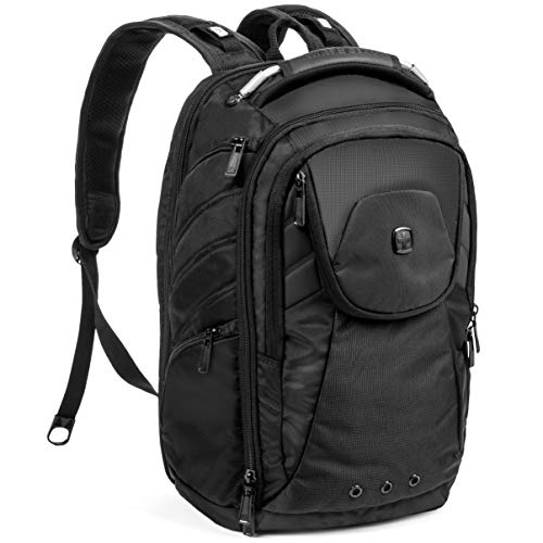 SwissGear Backpack Laptop Travel Backpack ScanSmart Monochrome Black Model SA2762