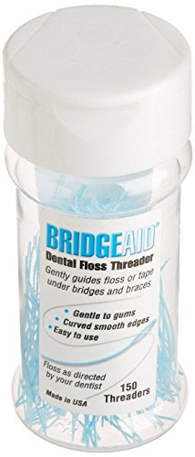 BridgeAid Dental Floss Threader Bottle 150, 1 Bottle