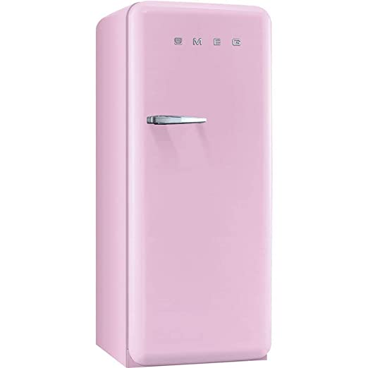 Smeg Fab28upkr1 50s Style 9 2 Cubic Feet Pink Right Hand Refrigerator With Freezer Compartment