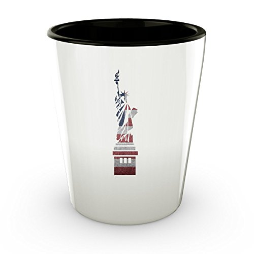 Cool Patriotic Statue Of Liberty American Flag Shot Glass Fourth of July Gift (1)