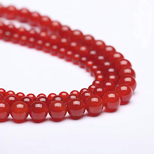 Nature Stone red Agate Gemstone Round Loose Beads for Jewelry Making DIY Bracelet Necklace(8mm)