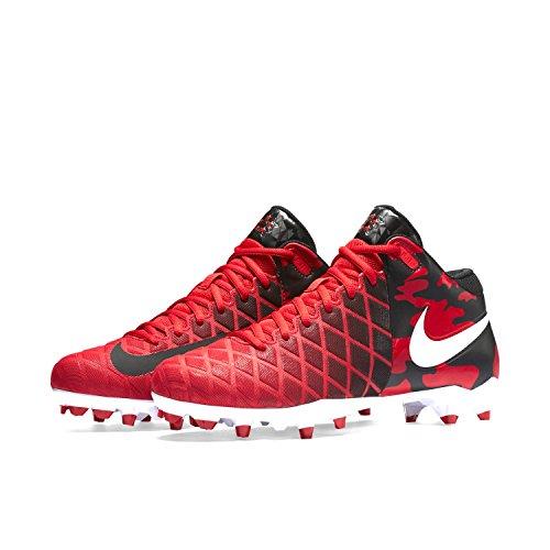 Nike Menns Feltet Generelt Pro Td Fotball Lacrosse Cleats Universitet Rød