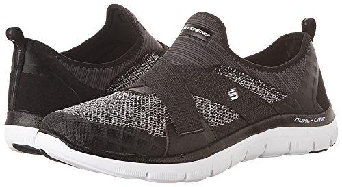Skechers Sport Frauen Flex Appeal 2.0 New Image Fashion Sneaker Schwarz-Weiss