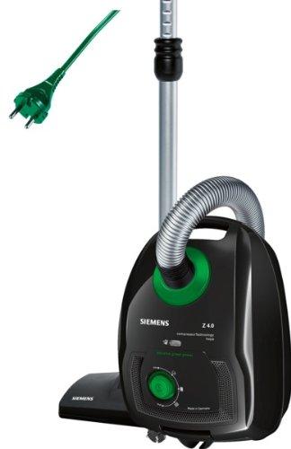 Siemens VSZ4GPX1 - Aspiradora con bolsa, 950 W, 4 litros, filtro HEPA, color negro