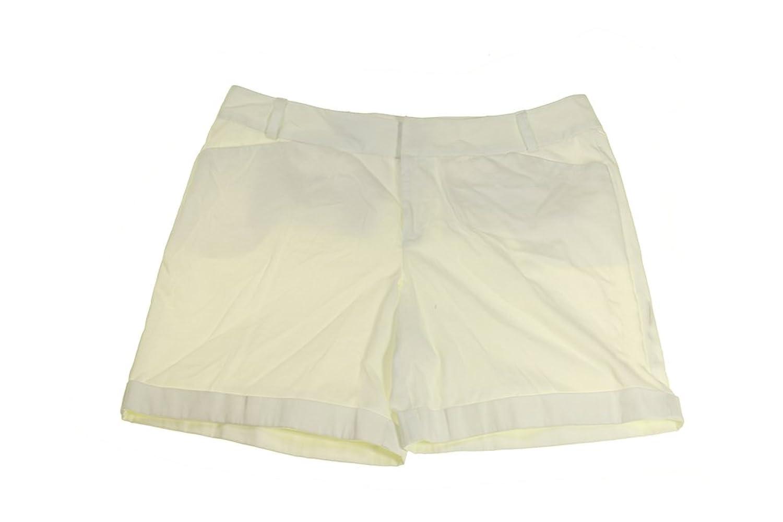 Inc International Concepts Plus Size White Cuffed Shorts W