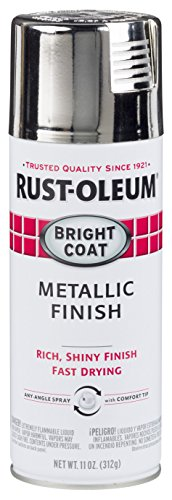 Rust-Oleum 6 Stops Rust Bright Coat Spray 7718830-6 Metallic Color 11 Oz, 6-PK, Gloss Chrome