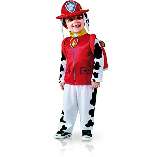 Rubie's Costume Toddler PAW Patrol Marshall Child Costume, One Color, 3-4 Years (Homemade Halloween Costumes For Baby Boys)