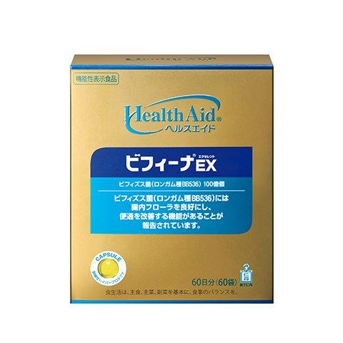 森下仁丹 ヘルスエイド® ビフィーナEX(エクセレント)60日分 [機能性表示食品] ビフィズス菌 B00ZYUNLNE