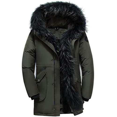 Men Winter Mens Goose Down Jacket Fluff Liner Warm Hooded Jackets Fur Coats
