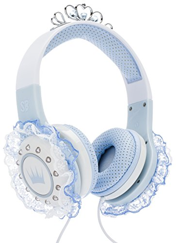 SoundBeast Ice Queen Kid's Headphones - Princess Winter Snow Themed - Volume-Limited, Safe For Children (Dvd Player Princess)