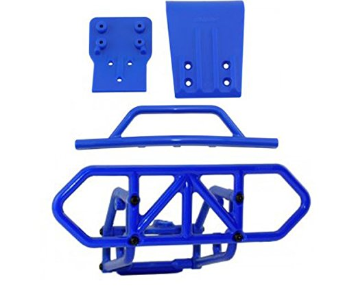 RPM Traxxas Slash 4X4 Blue Front and Rear Bumper Kit 80122 8