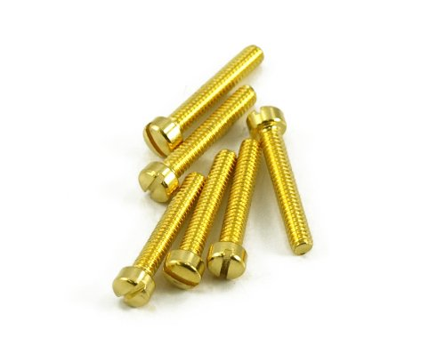 HUMBUCKER POLE PIECE SCREW GOLD (BAG OF 12 )
