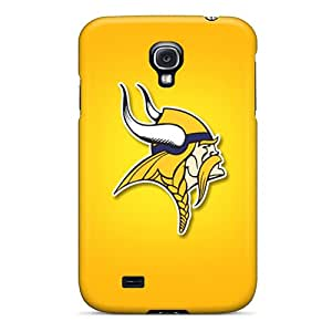 Durable Hard Cell-phone Cases For Samsung Galaxy S4 (zot1283jAkr) Allow Personal Design Realistic Minnesota Vikings Image