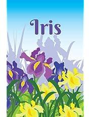 Iris February Birth Flower Notebook: Gift idea for Aquarius