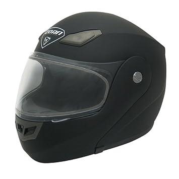 Zoan Goliath sólido mate negro eléctrico lente Modular nieve casco de equitación, 2 x -
