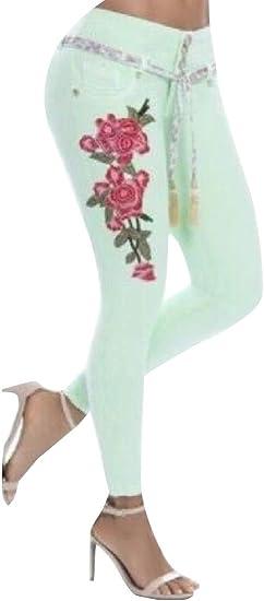 gawaga レディースファッション秋鉛筆デニム刺繍ボディコンジーンズパンツ