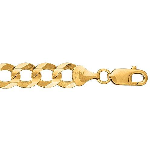 Or 14ct Confort Chaîne gourmette bracelet 8,2mm-23cm