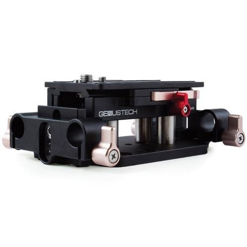 Genus Genustech Gen X Plate Camera Base Plate Package 1  Includes Gen X Baseplate  15Mm Lws Rods  Arca Swiss Plate  Posts  Rod Bracket Adaptor