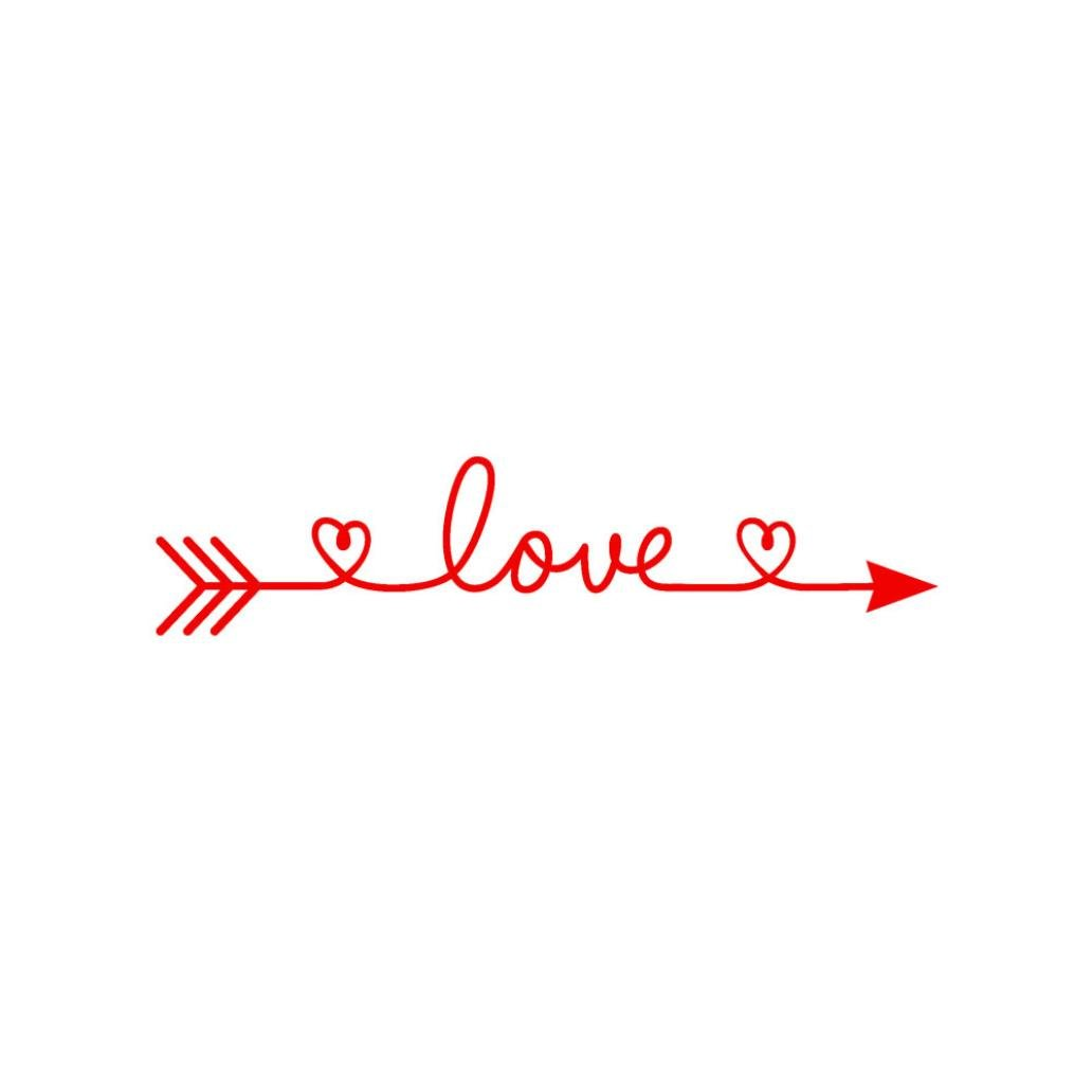 Iuhan® Love Arrow Wall Stickers, Removable Love Arrow Art Vinyl Mural Home Room Decor Wall Stickers (Red) by Iuhan® (Image #1)
