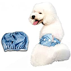 S-Lifeeling Comfortable Male Dog Diapers Puppy Sanitary Protector Washable Pet Pants