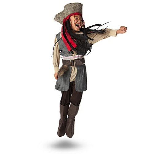 Disney Store Jack Sparrow Costume Pirates of the Caribbean (XS 4 Extra Small) (Captain Jack Sparrow Child Deluxe Costume)