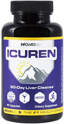 Infowars Life – Icuren 90 Capsules Natural Liver Detox Cleanse Support