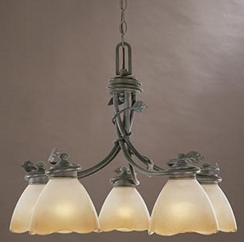 Designers Fountain 95686-OB Timberline 5-Light Down Chandelier, Old ()