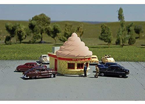 Roadside U.S.A. Resin Building - Ice Cream Stand - Chocolate - N Scale