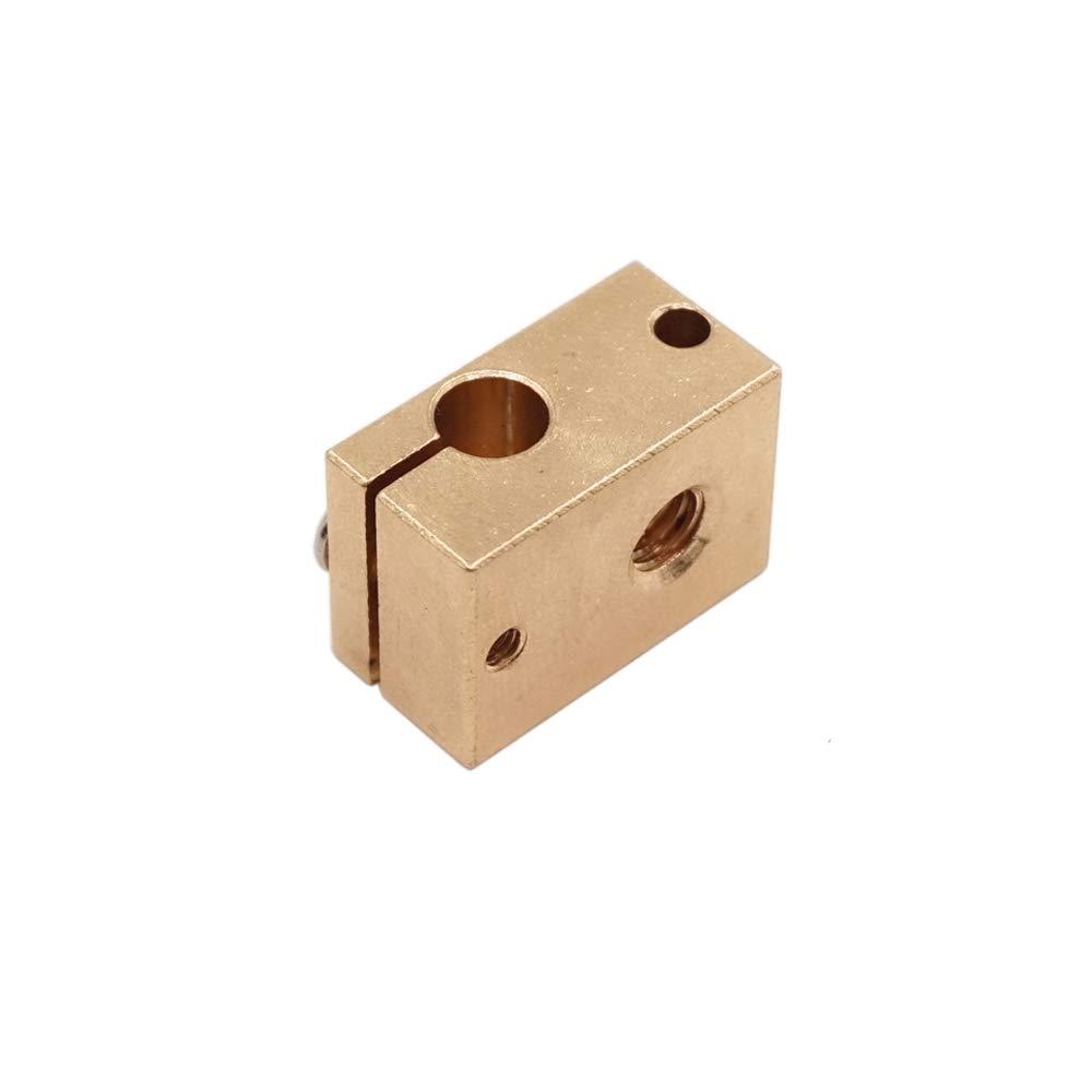 WINSINN V6 Heater Block Sensor Aluminum for HT-NTC100K PT100 RepRap Bowden J-Head V6 3D Printer Extruder Hotend Pack of 5Pcs