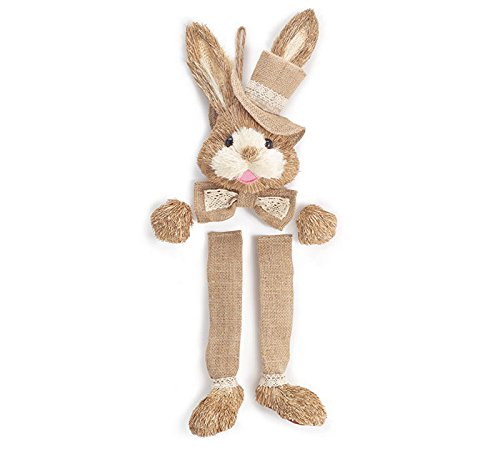 Burton Natural Sistal Easter Bunny Wreath Kit with Burlap Accents