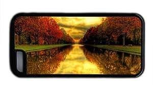 Golden Fall Season TPU Black Case for iPhone 5C (5c818116)