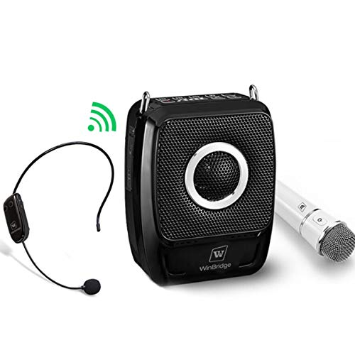 W WINBRIDGE S92 Pro Portable PA System, PA Speaker System with Bluetooth Microphone, Wireless Voice Amplifier 25 Watts Loud Speaker for Presentation,Teaching,Outdoor Activities etc