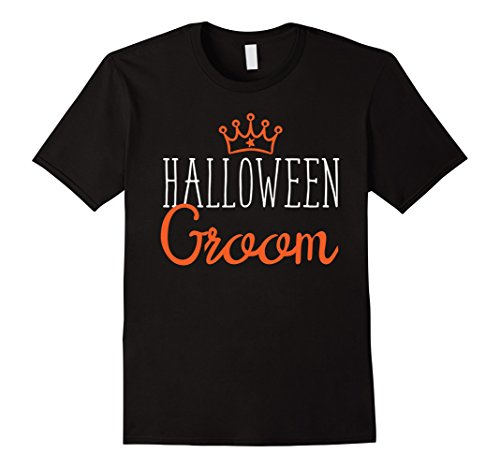 Mens Halloween Wedding Couple Shirt Matching Funny Groom Costume Large (Bride And Groom Couples Halloween Costumes)