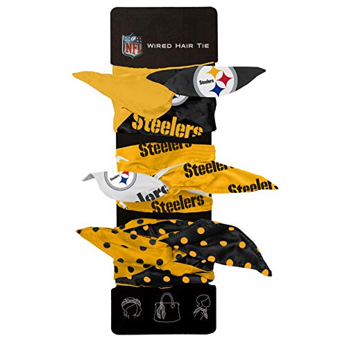 Littlearth NFL Pittsburgh Steelers Wired Hair Tie