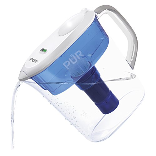 PUR 11 Cup Ultimate Pitcher with LED & Lead Reduction Filter, White, WQA Certified to Remove 99% of Lead, Filters Up to 30 Gallons/2 Months of Water ()