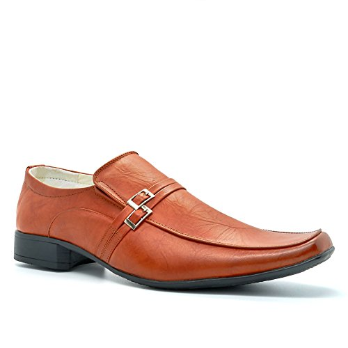 London Footwear Londres calzado Columba, Hombres de Slip On Smart/formal zapatos marrón claro