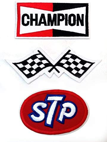 NEW 2 1//8 X 3 INCH STP MOTOR OIL IRON ON PATCH FREE SHIPPING