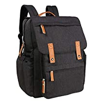 Hap Tim Diaper Bag Backpack Muilti-Function Waterproof Large Capacity Travel Diaper Backpack for Baby Care with Stroller Straps,Insulated Pockets(K1004CA-WG)