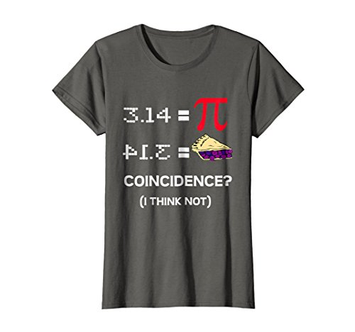 519004736da2 Womens Pi Day 2017 Funny Pie Style T-Shirt for Math Geeks Small Asphalt