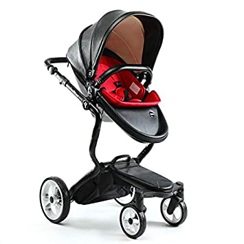 b8cd8b118882 Amazon.com   SpringBuds High Landscape Baby Stroller 3 in 1 Travel System  Luxury Newborn Pram (Black)   Baby