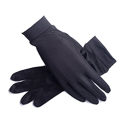 Women's 100% Pure Mulberry Silk Gloves Liner Glove Inner Ski Bike Cycle Gloves - Lightweight Gloves Silk