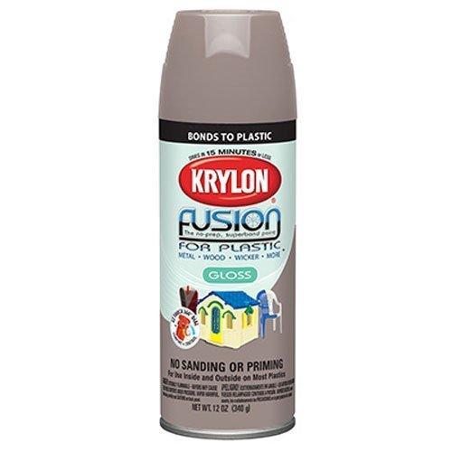 Krylon K02323000 Fusion For Plastic Aerosol Spray Paint, 12-Ounce, River Rock by Krylon ()