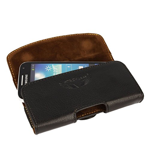 TECHGEAR® [Kapsel Holster Pouch] Horizontal PU Leder Pouch Schutzhülle mit Gürtel Clip Loop zu passen Samsung Galaxy S5Mini, S4Mini, Pocket 2, Young 2, Ace 4, Core 2, A3, J1, Z1, Sony Z5Compact, Z3