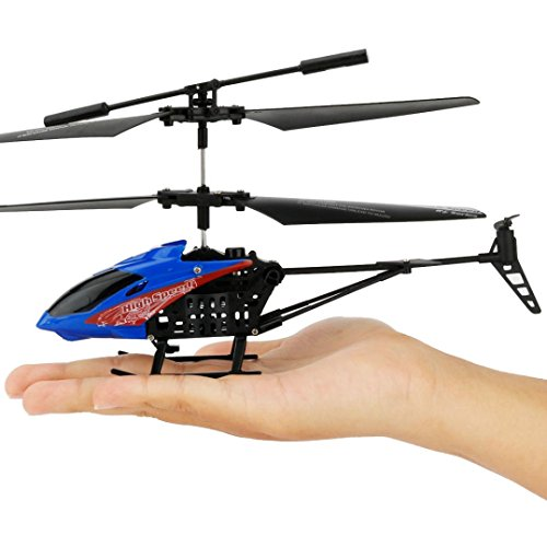 ZZSYU JX-807 RC 2CH Mini Quadcopter Helicopter Radio Remote Control Aircraft Micro (Blue) (Mini Remote Control Rotors Helicopter)