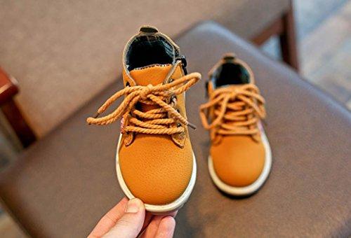 Hunpta Kinder Mode Jungen Mädchen Martin Sneaker Stiefel schnüren sich oben Kinder Baby Freizeitschuhe Gelb