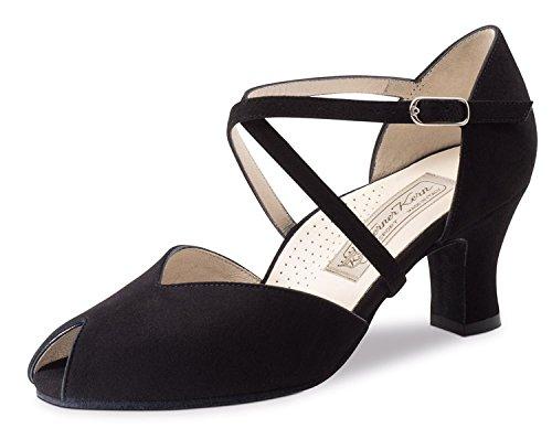 Werner-Nucléaire Femme Chaussures de Danse Fatima 6Suède Noir