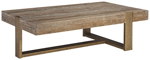 Ashley Furniture Signature Design – Paluxy Casual Rectangular Cocktail Table – Light Brown Review