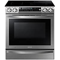 SAMSUNG NE58H9950WS Slide-In Electric Range, 31-Inch, Stainless Steel