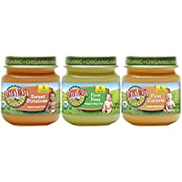 Los mejores alimentos orgánicos para bebés de Earth's Stage 1, mi primer paquete de variedades de verduras, 2.5 oz. Jarra (12 Conde)