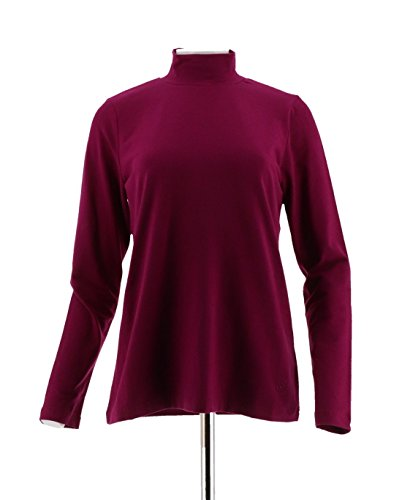 Linea Leisure Louis Dell'Olio Solid Long SLV Turtleneck Fuchsia M New A267871 from Linea by Louis Dell'Olio